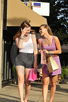 Happy Women With Shopping Bags Stock Image - Image: 16240941