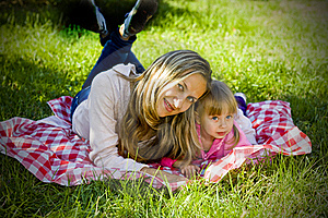 A Little Girl With Her Mother Royalty Free Stock Photography - Image: 16241027