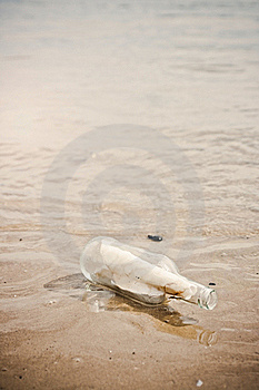 Message In A Bottle Stock Photography - Image: 16243772