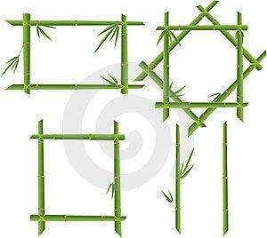 Set Of Bamboo Frames Royalty Free Stock Photography - Image: 16244267