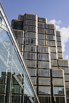 Glass Windows Against Blue Sky Stock Images - Image: 16244704