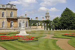 Flowers And Statues Decorating Wrest Park Royalty Free Stock Photography - Image: 16244887