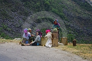 Hmong White Women's Group At The Lunch Break Royalty Free Stock Photography - Image: 16246347