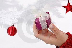 Hand Holding A Christmas Gift Stock Photos - Image: 16247123