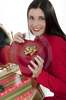 Attractive Young Woman With Christmas Presents Stock Photo - Image: 16247250
