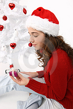 Hand Holding A Christmas Gift Stock Images - Image: 16247254