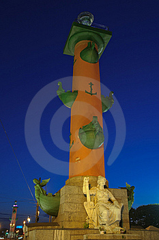Rostral Column In St. Petersburg, Stock Images - Image: 16247794