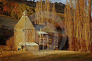 Hop Barn At Sunset Stock Image - Image: 16248181