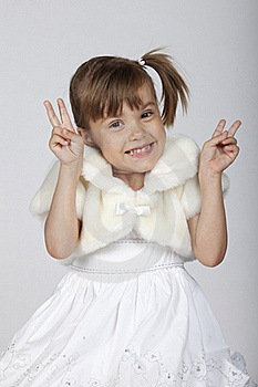 Little Girl Gesturing Success Royalty Free Stock Photos - Image: 16248758