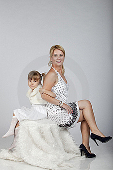 Beautiful Young Mother And Daughter Posing Stock Photo - Image: 16248790