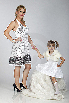 Beautiful Young Mother And Daughter Posing Royalty Free Stock Photo - Image: 16248795