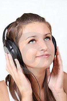 Girl Listening Music Royalty Free Stock Image - Image: 16249756