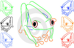 Fun Colored Frogs Royalty Free Stock Image - Image: 16250796