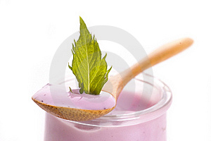 Blueberry Yoghurt Stock Images - Image: 16250944