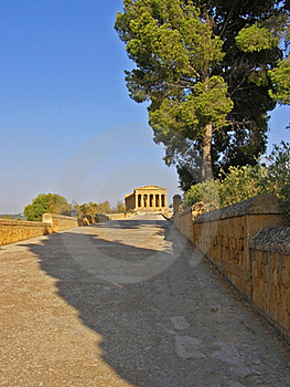 Archaeological Open Air Museum And Temple Stock Image - Image: 16253361