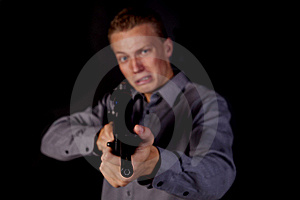 Scared To Shoot Royalty Free Stock Photos - Image: 16254628