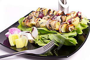 Chicken Skewers Royalty Free Stock Photos - Image: 16256678