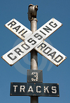 Railroad Crossing Sign Stock Images - Image: 16257164