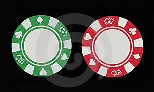 Two Gaming Chips Royalty Free Stock Image - Image: 16257166