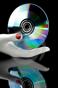 Cd Music In The Hand Royalty Free Stock Photography - Image: 16257807