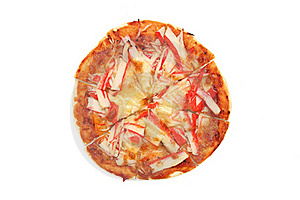 Crab Meat Pizza Stock Photo - Image: 16258130