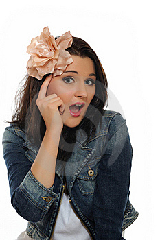 Expressions. Young Attractive Woman Is Thinking Stock Photo - Image: 16262030