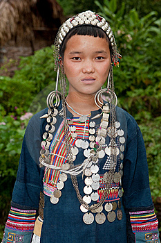 Portrait Young Akha In Laos Stock Photo - Image: 16262790
