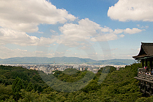 Panoramic View Of Kyoto Royalty Free Stock Image - Image: 16266436