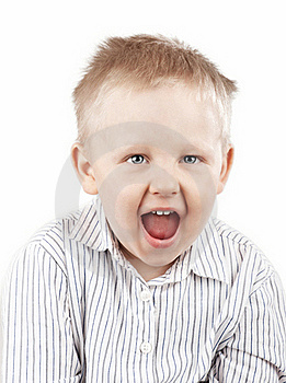 Portrait Of A Screaming Boy Stock Images - Image: 16266904