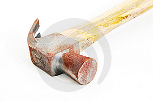 Old Rusty Hammer Isolated Stock Photos - Image: 16267263