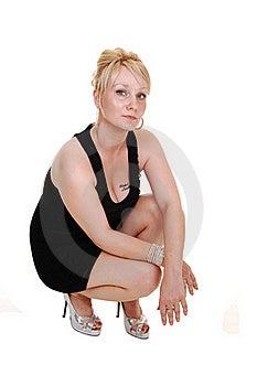 Girl In Black Dress. Stock Photos - Image: 16267993
