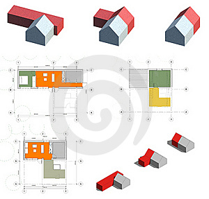 Project Of The Living House, Planning To Build Stock Photos - Image: 16269163