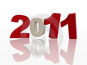3d 2011 In Red And Grey Stock Image - Image: 16270021