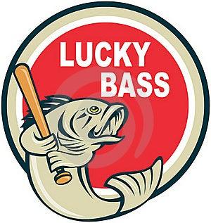 Bass With Baseball Bat Royalty Free Stock Photos - Image: 16270568