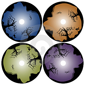 Halloween Cd Design Template Stock Images - Image: 16271234