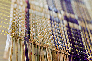 Detail Of Straw Mat On A Weave Stock Photography - Image: 16272432