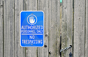 Authorized Personnel Only Royalty Free Stock Image - Image: 16272566