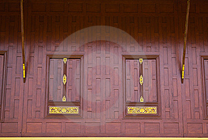 Traditional Thai Style Window Royalty Free Stock Images - Image: 16273609