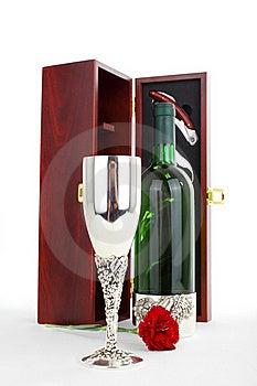 Bottle Of White Wine And Sommelier Set Stock Image - Image: 16273791