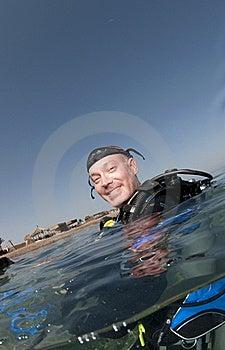 Scuba Diver On Surface Stock Photos - Image: 16274823