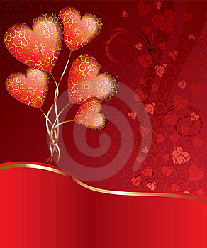 Balloons In The Form Of Heart Royalty Free Stock Photos - Image: 16279918