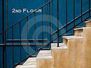 Stair Up To Second Floor Stock Photo - Image: 16282400