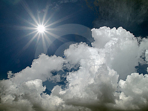 Sun Shine In The Blue Sky Stock Photography - Image: 16282722