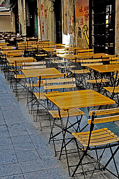Outdoor Cafe Royalty Free Stock Images - Image: 16285489