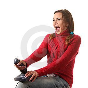 Girl With A Joystick Stock Photography - Image: 16287072