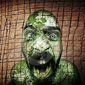 Man Monstrous Graphics Processing Stock Photos - Image: 16287263