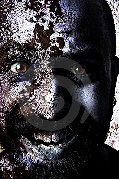 Man Monstrous Graphics Processing Royalty Free Stock Photography - Image: 16287307