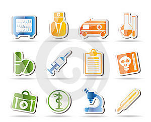 Medical And Healthcare Icons Royalty Free Stock Photography - Image: 16287417