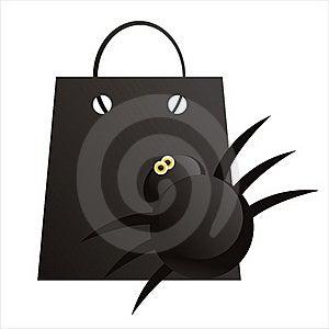Halloween Shopping Bag Royalty Free Stock Photos - Image: 16289838