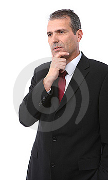 Handsome Thoughtful Businessman Royalty Free Stock Photos - Image: 16293138